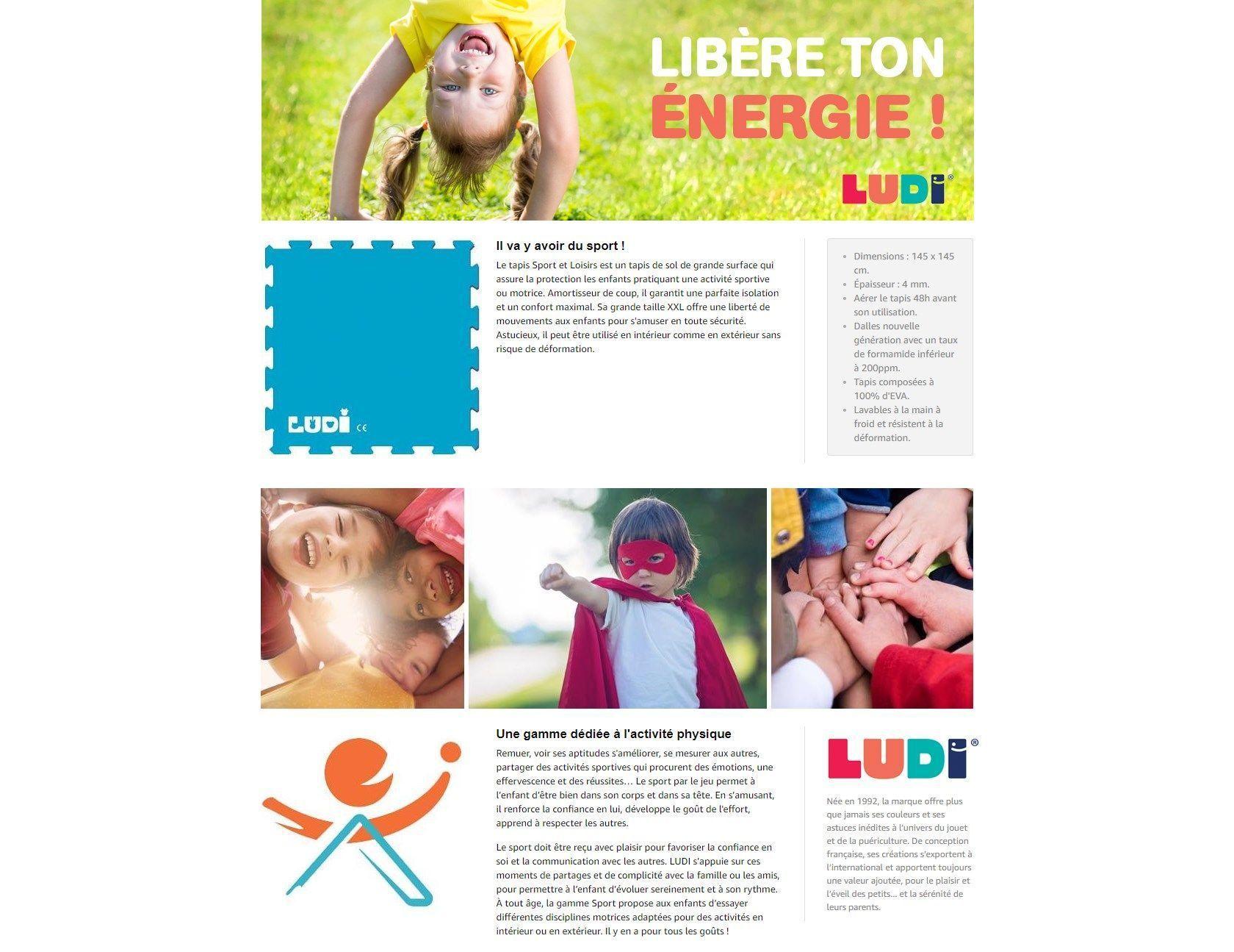 Ludi Tapis Mousse Sport Et Loisirs Achat Vente Tapis Eveil