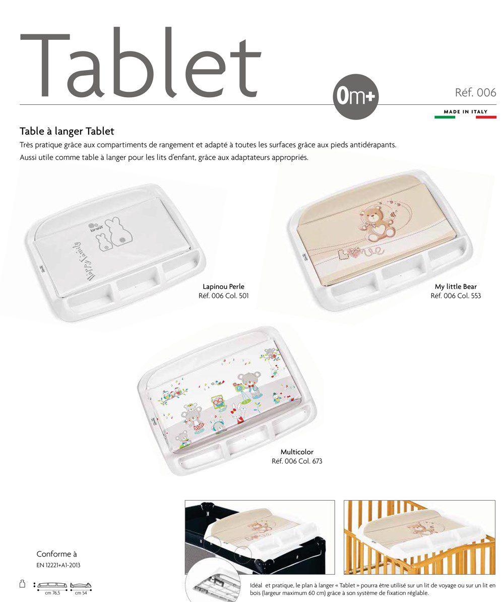 Brevi Tablet Plan A Langer Imprime Lapinou Perle Achat Vente
