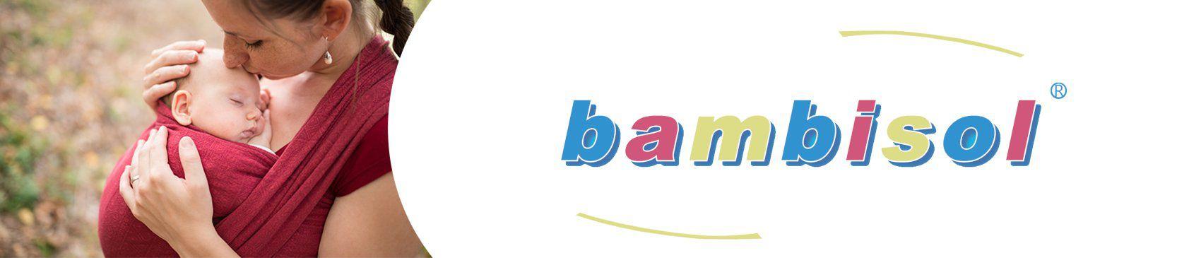 BAMBISOL Porte-Bébé Ventral Réversible - 0 à 6 mois - Mixte Noir et ... 2d1b65afdd8