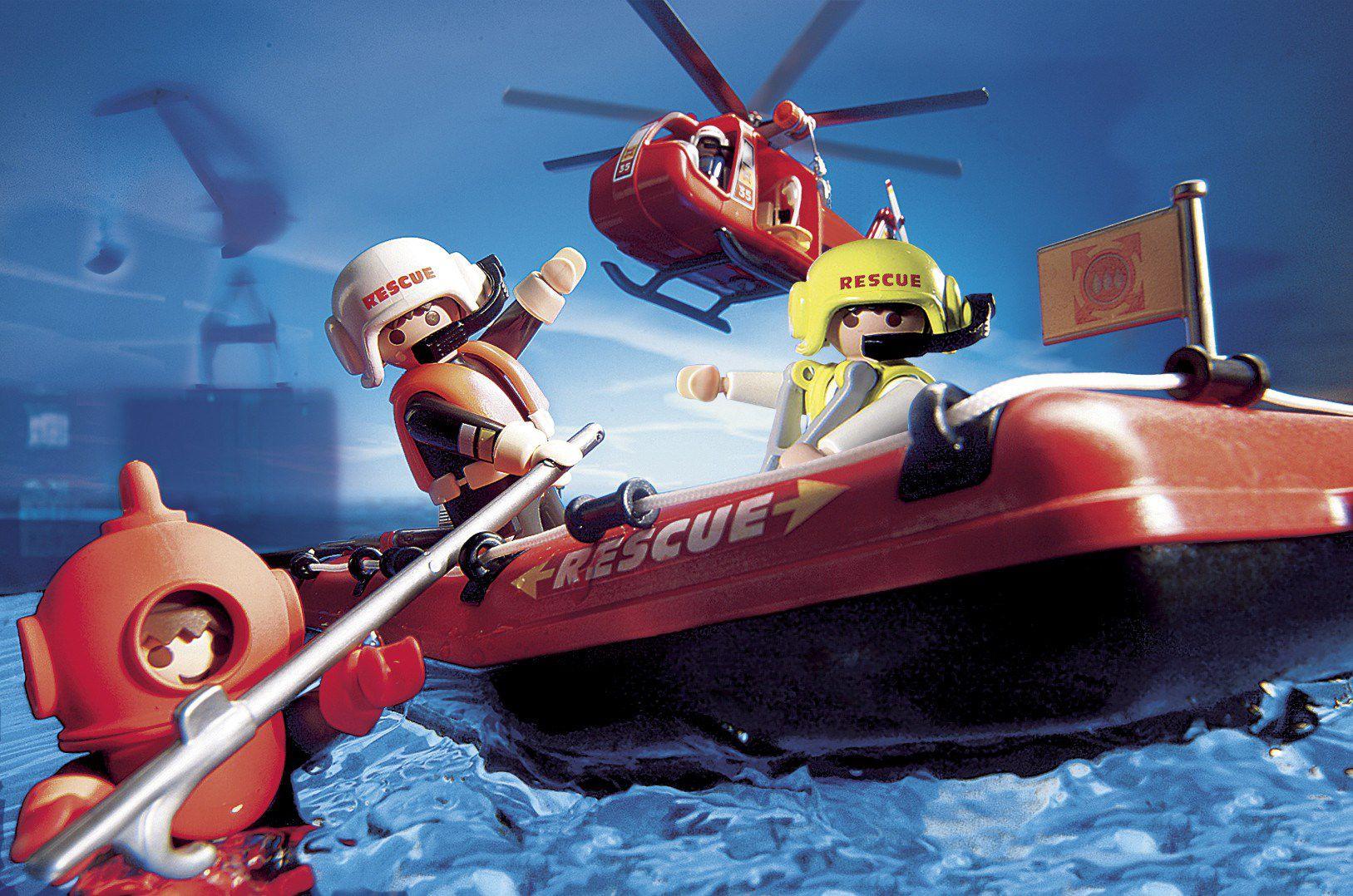Univers Achat Vente Playmobil 4428 Sauveteurshélicoptèrebateau f6vYyb7g