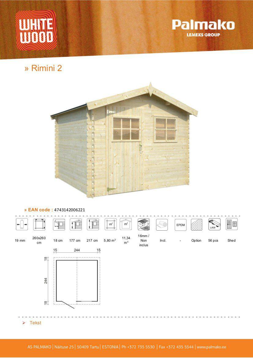 Abri De Jardin En Bois A Monter Soi Meme whitewood abri de jardin en bois rimini fsc- 5,8m²