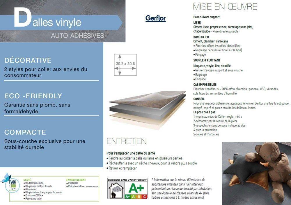 Gerflor Design 30x30 White T Cdiscount Bricolage
