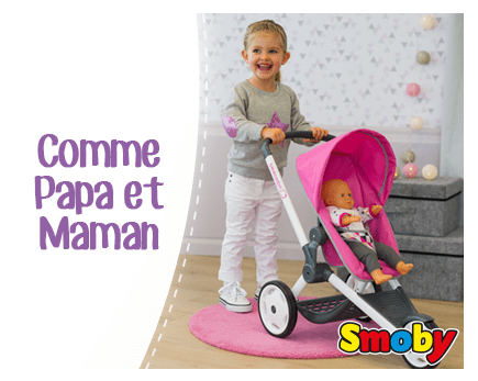 Comme Papa Comme Maman Landau Poussette Lit à Bascule Baby Nurse Accessoires Poupées