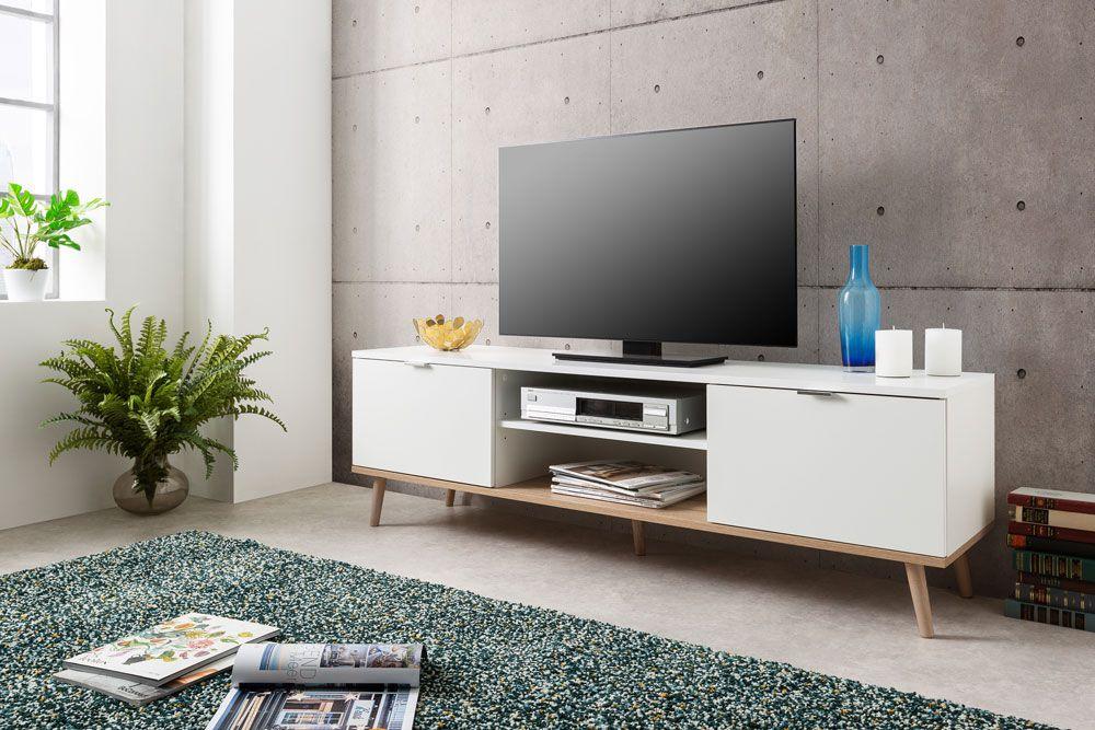 Meuble TV scandinave blanc GÖTEBORG