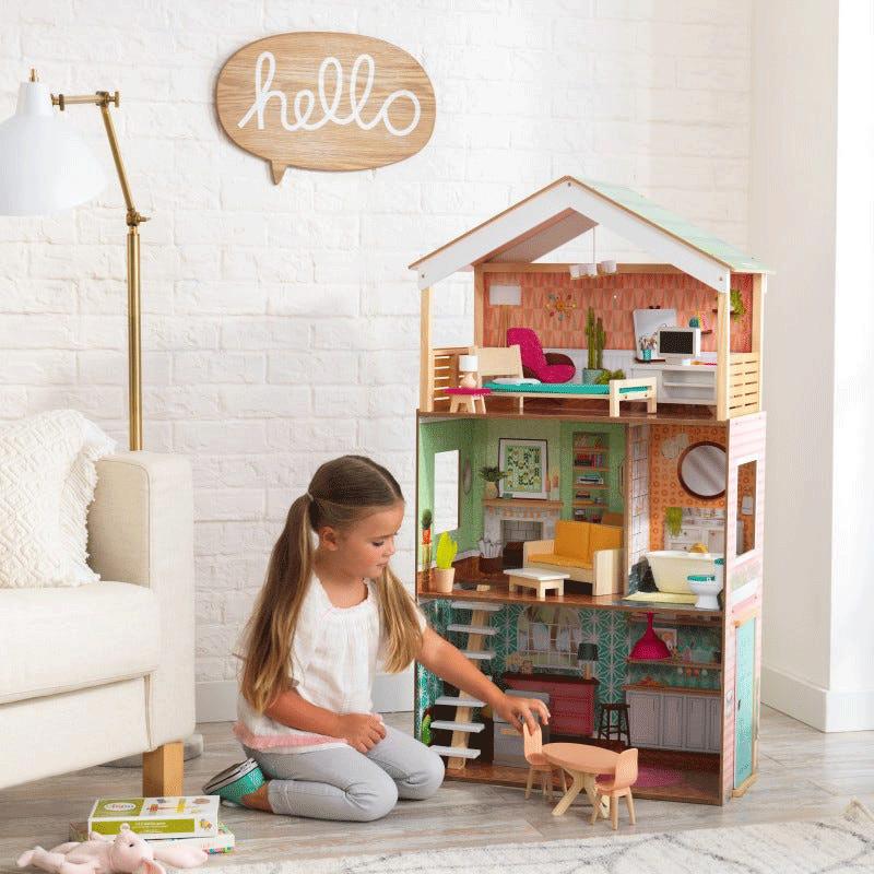 12 maison de poupées cartes de noël Maison de poupées