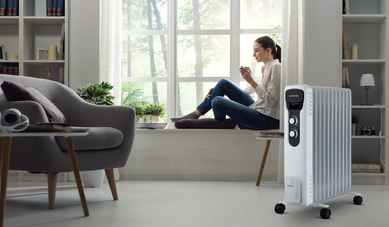 Nouvelle huile 850 W Mini Radiateur à bain d/'avec Home Office Thermostat hiver réglable