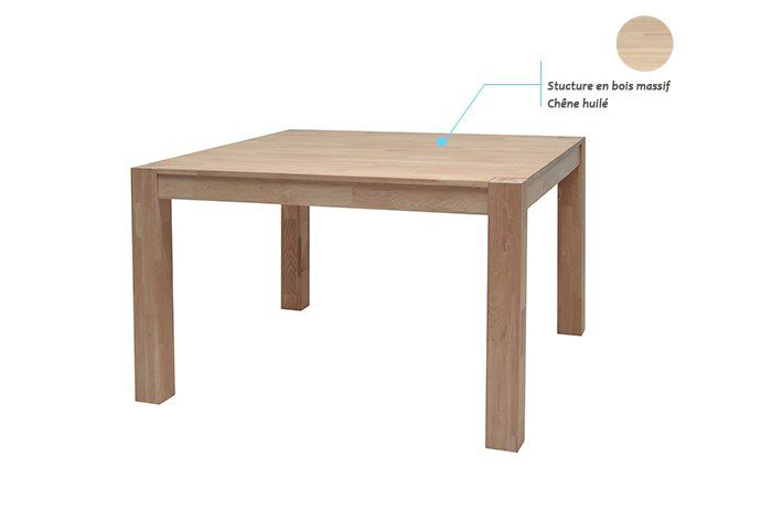 Miles table manger carr e de 2 4 personnes scandinave for Table scandinave carree