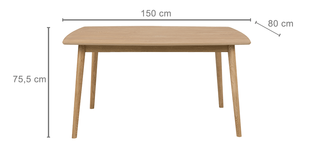 Dimensions table extensible MILES
