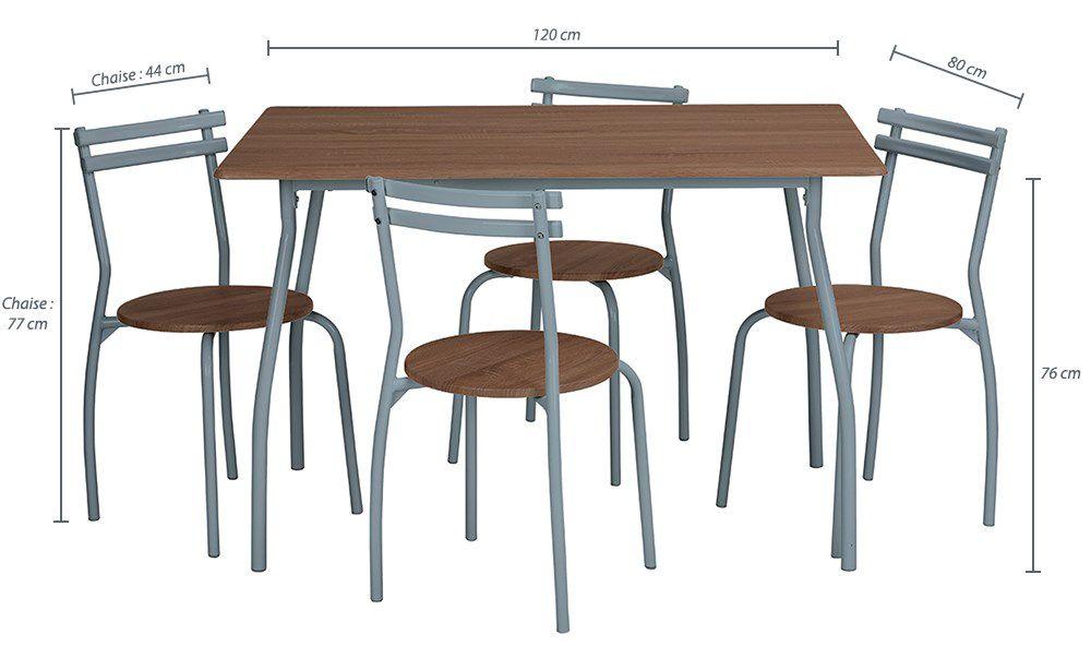 Reed Ensemble Table A Manger Chaises 4 Personnes Contemporain En