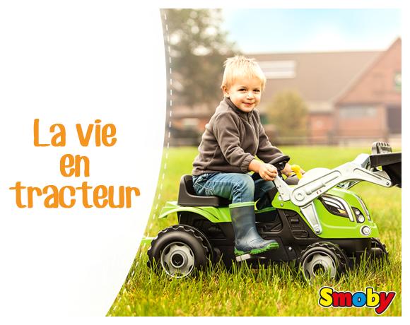 tracteur Fermier Pédale Plastique Jardin Enfant Claas