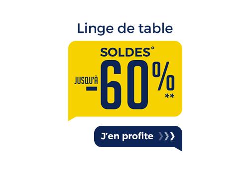SOLDES LINGE DE TABLE
