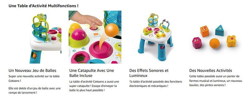 Smoby Cotoons Table D Activites Multifonctions Mixte Achat