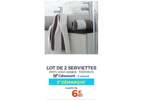 SOLDES SERVIETTES RAYEES