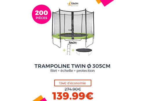 KANGUI Trampoline TWIN Ø 305cm