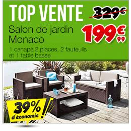 Top ventes mobilier de jardin achat vente pas cher for Achat mobilier de jardin