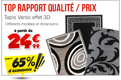 Tapis achat vente tapis pas cher cdiscount for Carrelage 70x70 gris