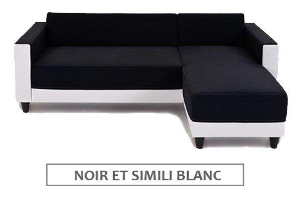 Finlandek canapé dangle réversible kulma 3 places tissu gris