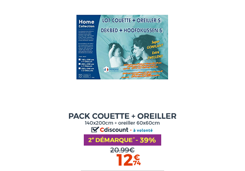 PACK COUETTE ET OREILLERS