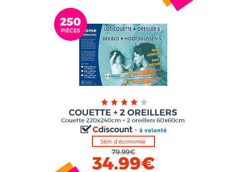 PACK COUETTE + OREILLER