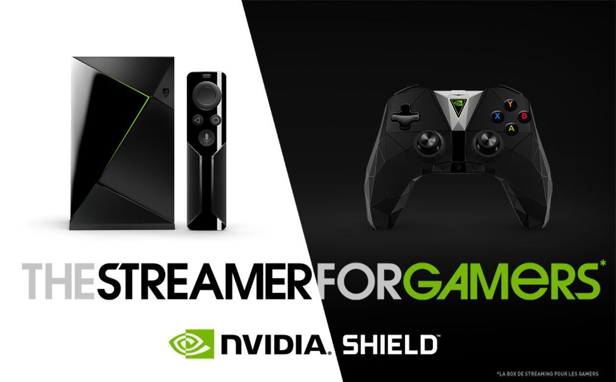 NVIDIA SHIELD - The Streamer for gamers - Streaming en 4K. Jeux avancés. Android TV