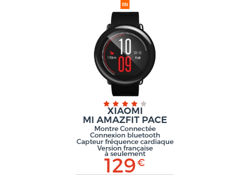 Xiaomi montre connectee Pace
