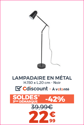 LAMPADAIRE EN METAL
