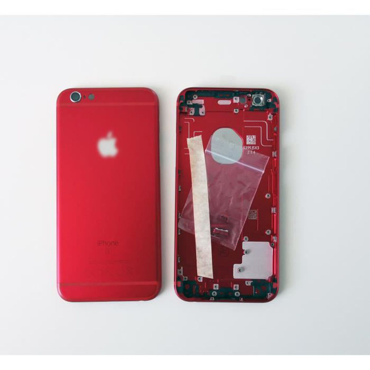 coque arriere chassis iphone 6s 4 7 rouge red
