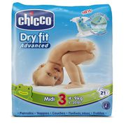 COUCHE CHICCO Dry Fit Advanced Couches -Taille 3 Midi x 2