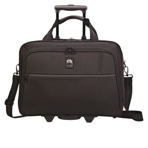ATTACHÉ-CASE VISA DELSEY Sacoche Ordinateur Trolley OMEGA Noir