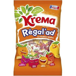 CONFISERIE DE SUCRE KREMA Bonbons tendres Régal'ad, saveur orange, fra
