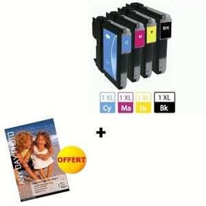 BROTHER 970 Cartouches d'encre compatibles Multipack (4) + papier photo