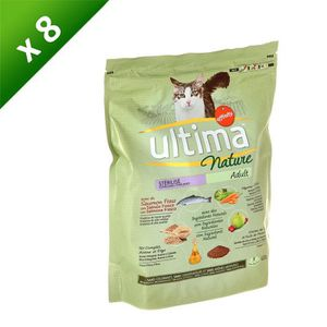 ULTIMA Nature au saumon - Pour chat adulte - (x8)