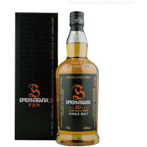 WHISKY BOURBON SCOTCH Whisky Springbank 10 ans single malt Campbeltown