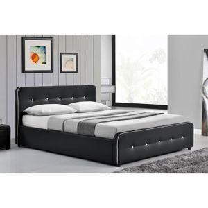 STRUCTURE DE LIT Le Balder - Structure de lit capitonnée Noir avec