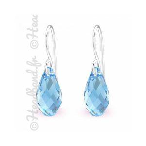 Boucle d'oreille Boucles d'oreilles pendentif Swarovski cristal aqu