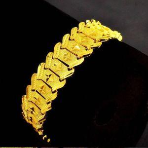 BRACELET - GOURMETTE Bracelet épais Chaîne de poignet Or jaune 18k plaq