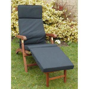 COUSSIN D'EXTÉRIEUR Chaise Steamer UK-Gardens Black Garden Furniture C