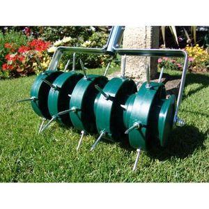 Greenkey Rouleau pelouse aérateur 30 cm 700