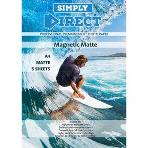 PAPIER IMPRIMANTE 5 x Simply Direct A4 Mat Magnétique Papier d'impre