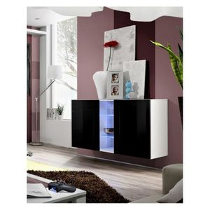 vitrine a suspendre achat vente vitrine a suspendre pas cher cdiscount. Black Bedroom Furniture Sets. Home Design Ideas