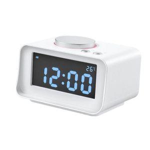 Radio réveil Horloge Numérique Radio Réveil Snooze USB Chargeab