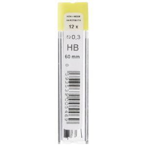 KOH-I-NOOR Fine Graphite Leads for 0.5mm Diameter 60mm 2H Mechanical Pencil