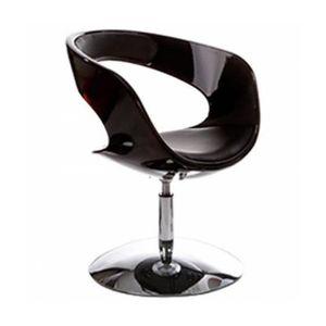 FAUTEUIL Fauteuil design rotatif noir