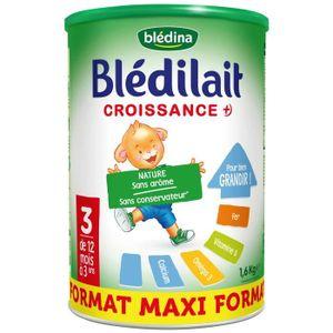 LAIT BÉBÉ BLEDILAIT Lait en poudre croissance 3e age 1,6kg