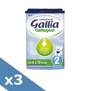 LAIT BÉBÉ GALLIA Galliagest Lait en poudre 2ème Age - 900g -