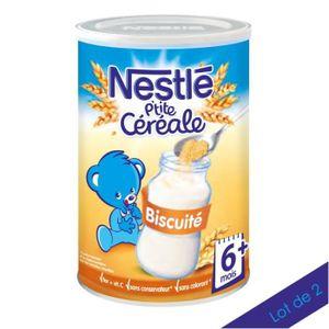CÉRÉALES BÉBÉ [LOT DE 2] NESTLÉ P'tite Céréale Biscuité - 400 g