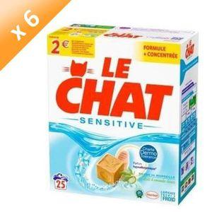 LESSIVE LE CHAT Lessives en poudre Sensitive - 1,63  kg -