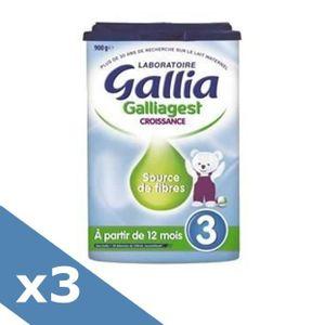 LAIT BÉBÉ GALLIA Galliagest Croissance Lait en poudre 3ème â
