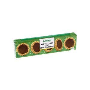 BISCUITS CHOCOLAT Tartelettes goût choco-noisette - Casino - 150 g