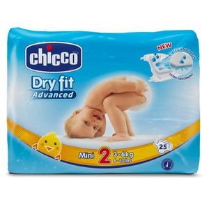 COUCHE CHICCO Dry Fit Advanced Couches - Taille 2 Mini x